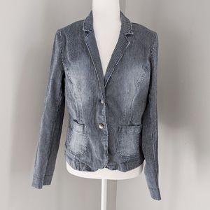 3/$30 Jean Striped Texture Jacket
